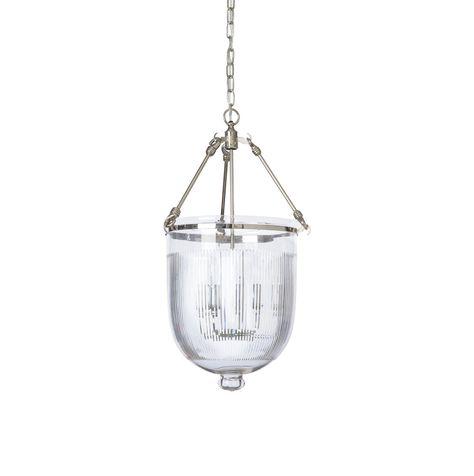 The Barbara Cosgrove Lamps Bell Jar Pendant Features An
