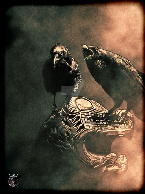 Raven, Crow, et Corbacs  8283c03ffb500e27b9e46046c1f4289b--viking-art-crows-ravens