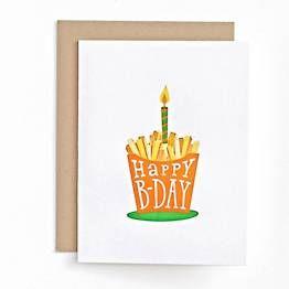 French Fries Birthday Card Cards Birthday Cards Heartfelt Cards