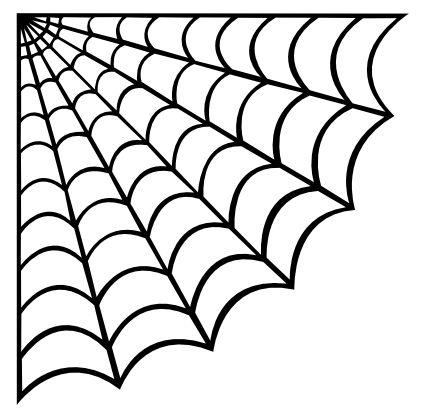 spider web drawing Craft ideas Halloween templates, Spider web