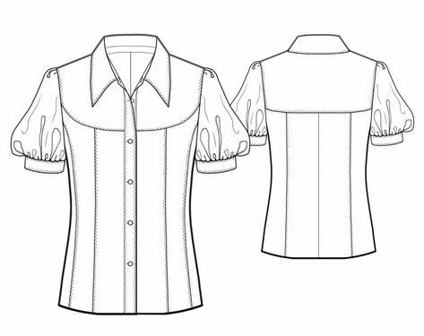 Sewing Blusas Name: 'Sewing : Blouse Sewing Pattern 5743 -