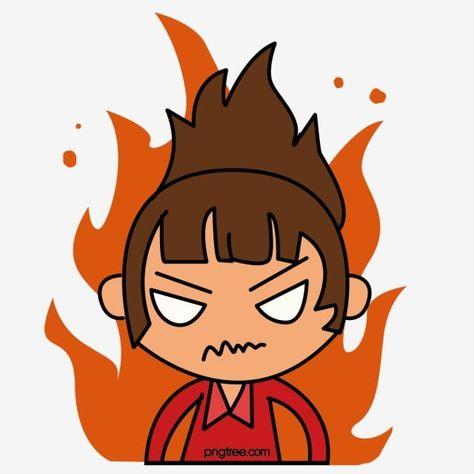 كرتون فتاة غاضبة رسوم متحركة غاضب فتاة الكرتون Png وملف Psd للتحميل مجانا Cartoon Clip Art Black And White Cartoon Cartoon Styles