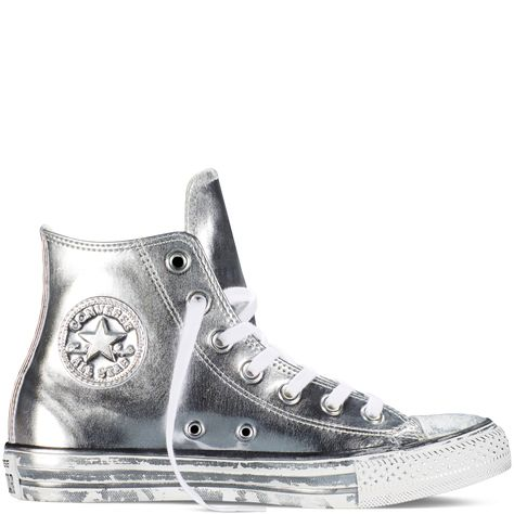 b8eaa8f44386 Chuck Taylor All Star Chrome Leather Silver White Black silver white black