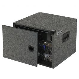 8 Space Carpeted Case Cre08g Audio Rack Woods Equipment Sound System