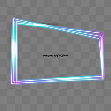 Fashionable Colorful Multi Line Neon Light Frame Geometric Border Dazzle Fluorescence Png Transparent Clipart Image And Psd File For Free Download Blue Background Images Clip Art Neon Lighting