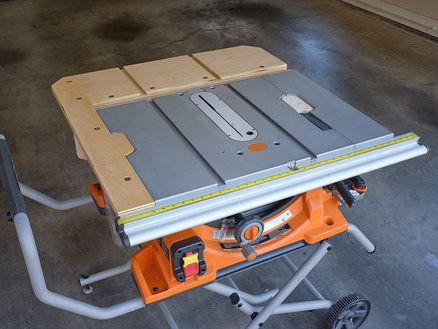 Ridgid R4510 Table Saw Extension Designed By Stonehavenlife Com