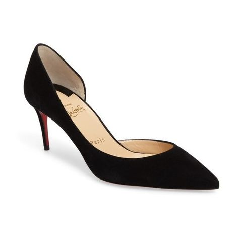 0aba4bfe338 Women s Christian Louboutin Iriza Half D Orsay Pump (73650 DZD) ❤ liked on  Polyvore featuring shoes