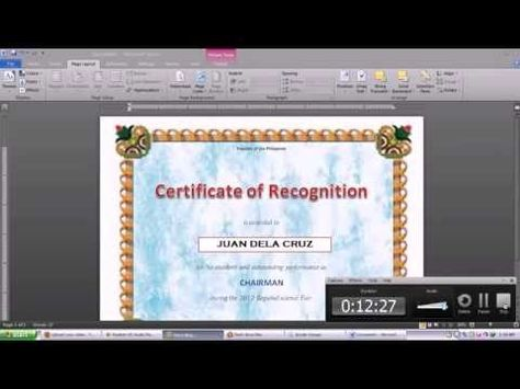 How to Make a Certificate in Microsoft Word \u2013 Tutorial Free