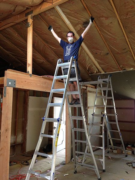 How We Turned Our House Into A Giant Foam Box Part Ii Ceiling Insulation Frugal Happy In 2020 Ceiling Insulation Best Insulation Insulation