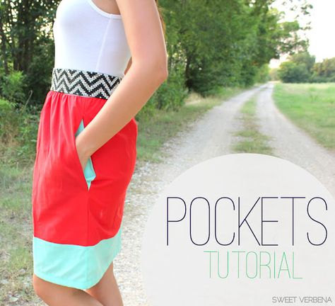 How to add pockets to a skirt, shorts, tunic, etc.