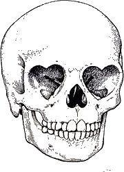 Heart Eyed Skull
