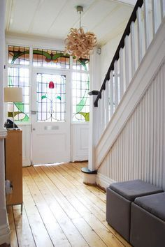 Our first home edwardian house in hall hallway also rh pinterest
