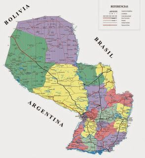Paraguay Geografiske Kort Over Paraguay Dansk Encyklopaedi
