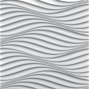Art3dwallpanels 19 7 In X 19 7 In White Pvc 3d Wall Panels Wave Wall Design 12 Pack T100h46 The Home Depot In 2020 Pvc Wall Panels Pvc Wall Vinyl Wall Panels