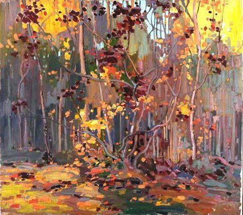 Tom Thomson - Art Nouveau, Arts&Crafts &  Post Impressionnism - Maple Saplings
