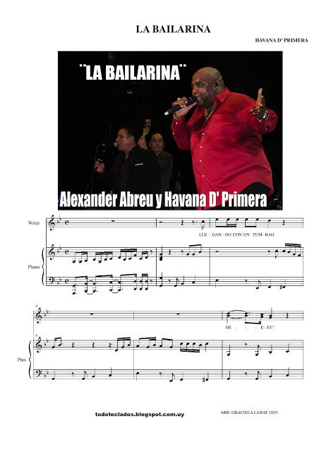 La Bailarina Havana D Primera Letras Y Acordes Musica Partituras Carole King