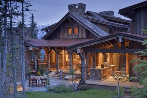 Log home by Design Associates - Lynette Zambon, Carol Merica, Bozeman, Montana