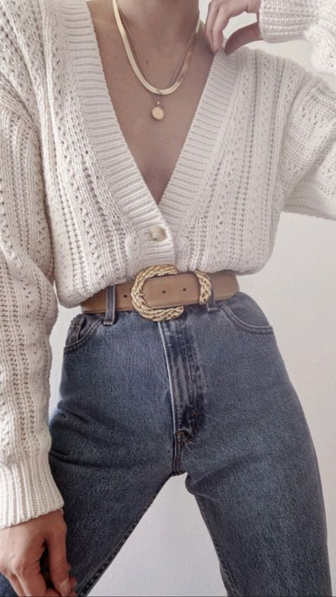 Vintage Knit Cardigan Outfit