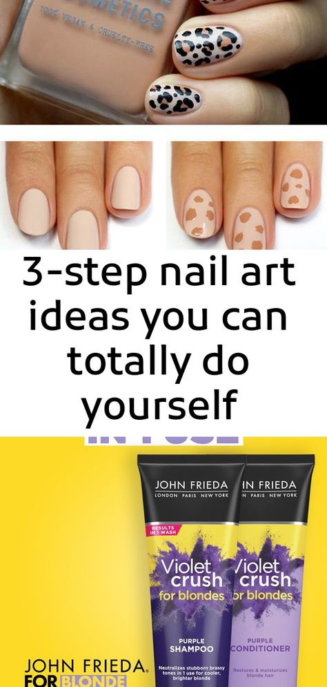 3-step nail art ideas you can totally do yourself