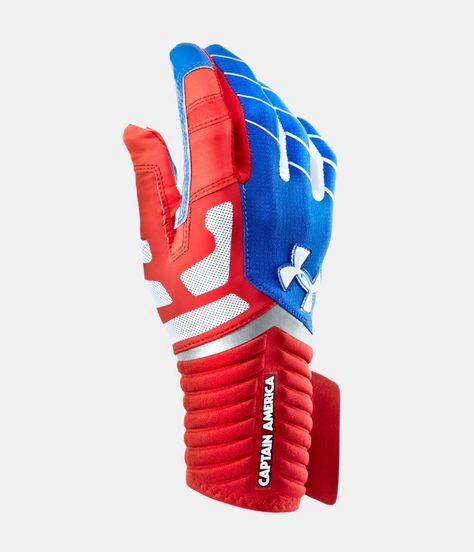 f04afe99a48 Men s Under Armour® Alter Ego Captain America Highlight Football Gloves