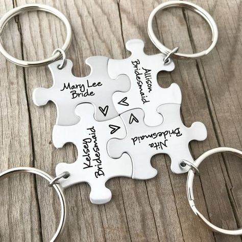 Personalized Puzzle Piece Key Chains