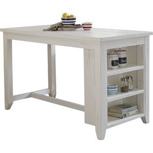 Modern Breakfast Bar Table With Storage Reclaimed Kitchen