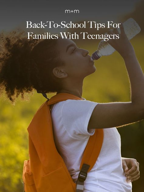 The teenage years can be stressful for you and your teen. Here are some back-to-school tips for families with teenagers to manage the pressure and keep everyone sane. #teenagers #parenttoteens