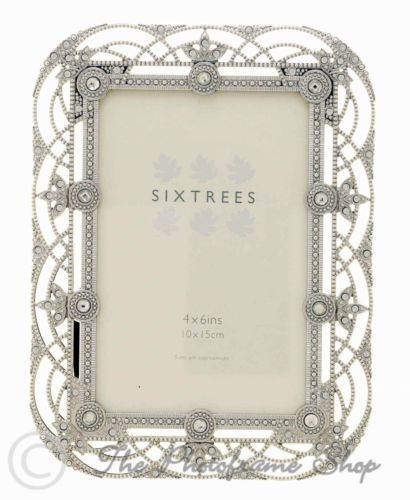 Details about Vintage Ornate silver photo frames beads