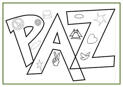 Desenhos De Paz Para Colorir Atividades E Desenhos Sobre Paz