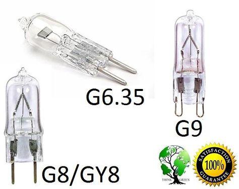 Pack Of 5 Ultra Halogen Bipin 110 120v Volt Bulb Base G6 35 Gy6 35 G8 Gy8 G9 Shape Coding Bulb Ebay