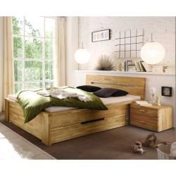 Massivholzbett Aus Wildeiche Schubladen Basilicanabasilicana Massivholzbett Aus Wildeiche Schublad In 2020 Solid Wood Bed Storage Spaces Bedroom How To Make Bed
