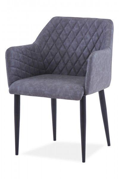 Armlehnstuhl Grau Kunstleder Armlehnstuhl Stuhle Und Online Mobel