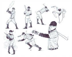Stupid Batting Stances By Doxophilia Character Design Baseball Bat Drawing Off Mortis Ghost