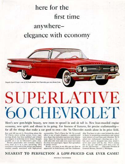 CHEVY 1960 CHEVROLET IMPALA Sports Sedan Car Vintage Look REPLICA METAL SIGN