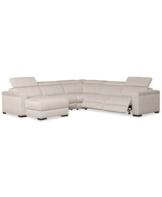 Furniture Nevio 5 Pc. Fabric Sectional Sofa with Chaise, 2