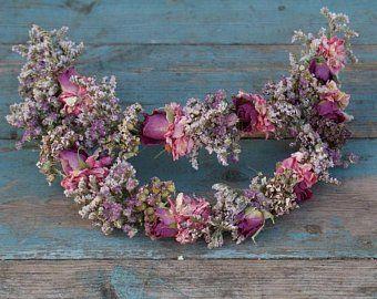 Summer Haze Dried Flower Hair Crown Flores En El Pelo Peinados Con Corona Tocados Novia Flores