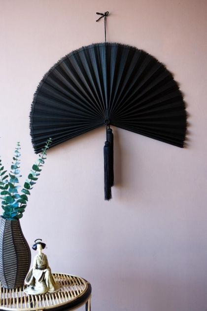 Beautiful Bamboo Fan Wall Hanging Rockett St George Retro Wall Art Unique Wall Art Wall Fans