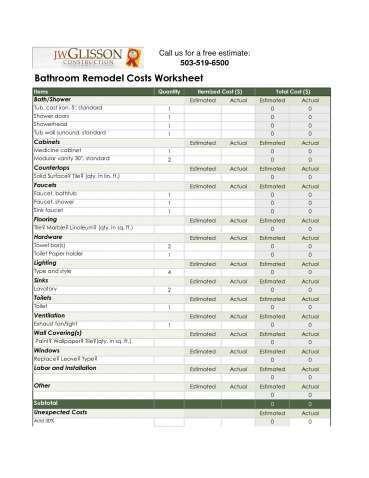 Kitchen Remodeling Costs Estimator Remodel Estimator Latest Bathroom Bathroom Remodel Estimate Bathroom Remodel Cost Budget Bathroom Remodel