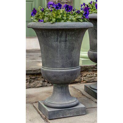 Canora Grey Robbin Concrete Urn Planter Colour Copper Bronze In 2020 Urn Planters Stone Plant Planters