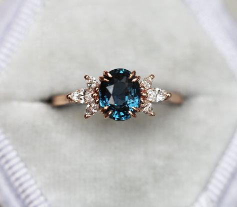 Diamond rings 773704410972384368 - Luella Oval Blue Sapphire Diamond Ring, Blue Sapphire Engagement Ring – Capucinne Source by Wedding Rings Vintage, Vintage Engagement Rings, Vintage Rings, Wedding Rings Simple, Celtic Wedding Rings, Vintage Diamond Rings, Blue Diamond Wedding Rings, Unique Rings, Sapphire Ring Engagement