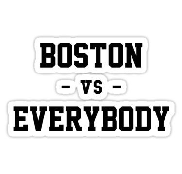 Boston Vs Everybody Sticker Detroit Vs Everybody Detroit Stickers