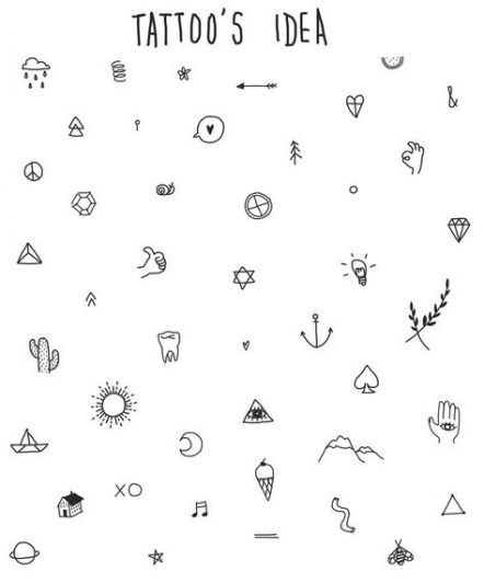 Tattoo Designs Drawings Doodles Beautiful 37 Ideas Cool Small Tattoos Small Tattoo Placement Doodle Tattoo