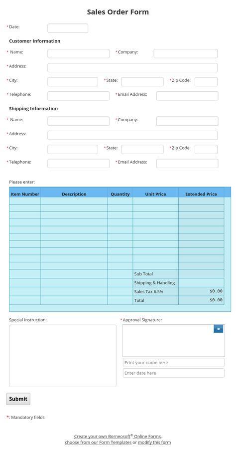 Mileage Reimbursement Form By Borneosoft Online Forms
