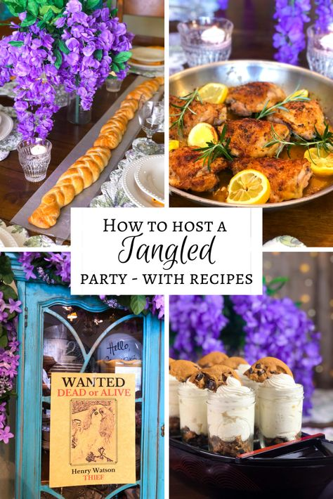 Disney Dinners: Tangled – The Rose Table Disney Themed Food, Disney Inspired Food, Disney Food, Disney Recipes, Food Themes, Party Themes, Party Ideas, Party Party, Food Ideas
