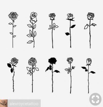 New Nails Art 2018 Rose Ideas Simple Rose Tattoo Rose Tattoo Design Cute Tattoos