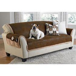 Sure Fit Mink Sofa Furniture Cover Vintage Leather Sofa Couch Covers Leather Furniture