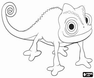 Desenho De O Camaleao Pascal O Mascote Da Princesa Rapunzel