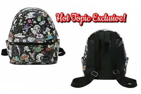 273b8455c9 Loungefly tokidoki Mini Black Faux Leather Space Characters Print Backpack  designed by Simone Legno - Hot Topic Exclusive