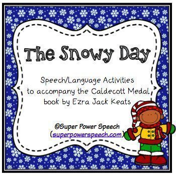 Pretend Language The Snowy Day Book Snowy Day Speech Language