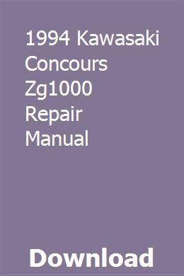 1994 Kawasaki Concours Zg1000 Repair Manual Kawasaki Vulcan 900 Classic Repair Manuals Kawasaki Vulcan